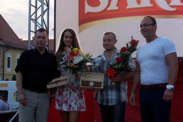 Ocenení Bardejovčania Katarína Hudačková a Ján Matej.