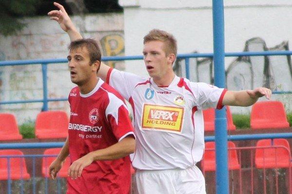 Stanislav Cuprišin (vľavo). Z čias, keď hájil farby Bardejova.