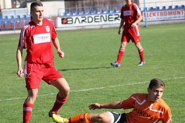 Futbalisti staršieho dorastu. Bardejov remizoval s Banskou Bystricou.
