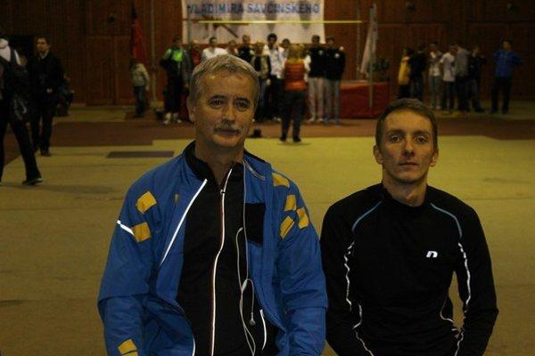 Lukáš Beer s trénerom Jaroslavom Rusnákom.