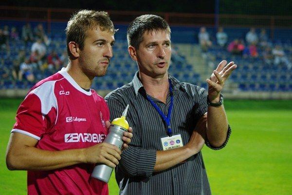 Tréner Bardejova Rastislav Kica.