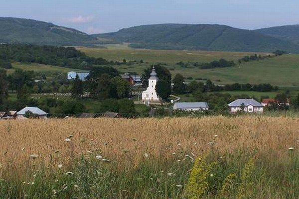 Pohľad na obec Hažlín.