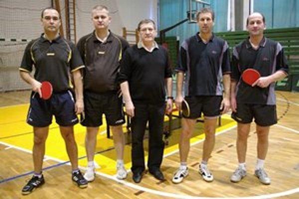 Družba Bardejov. Zľava Milosz Sawczak, Peter Tušim, Ján Jakub, Ivo Mryglot, Peter Kopalko.