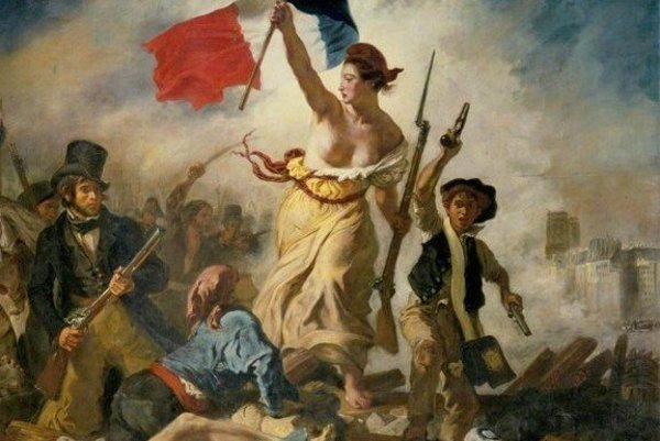 Sloboda vedie ľud. Ikonická maľba Eugéne Delacroix, ktorá pripomínala ďalšiu francúzsku revolúciu, tentokrát tú z roku 1830.