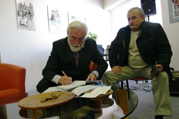 Boris Voroňák na autogramiáde.