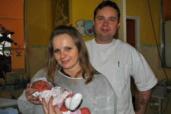 Novoročná Bianka s mamou Denisou a Rastislavom Buhajom.