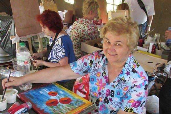 Mária Haburajová. Maľovanie je jej celoživotnou láskou.
