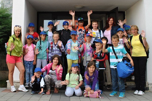 Deti v mestskom tábore.