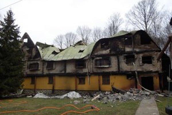 Penzión po požiari
