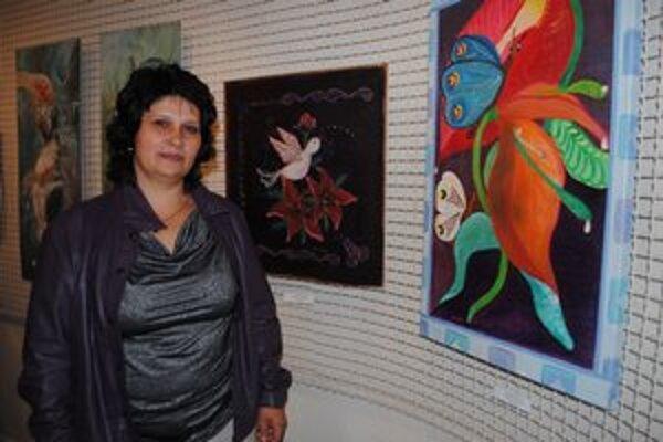 Žaneta Grundzová  zo Sniny. Jej práce ocenila porota čestným uznaním.