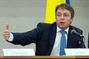 Minister financií Ivan Mikloš počas príhovoru na medzinárodnej konferencii.