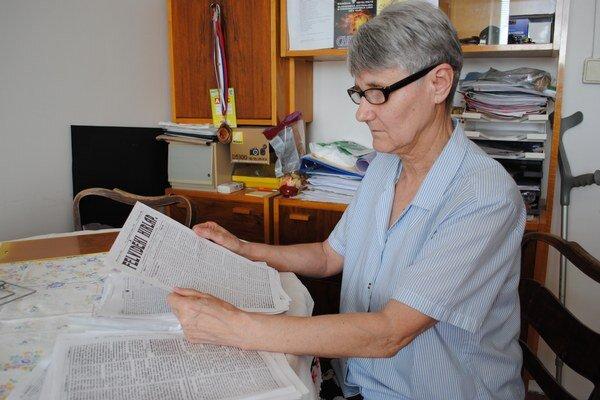 Valéria Csontosová. Storočné správy preložila z maďarčiny z regionálnych novín Felvidéki Hírlap  (Hornozemské zvesti).