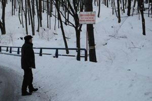 Veľa snehu. Takto to vyzerá vo vojenských lesoch nad Kamenicou nad Cirochou. Odpadové drevo je pod snehom. Dostať sa k nemu nedá.