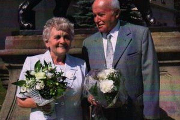 Etela a Maximilián na zlatej svadbe v roku 2009.