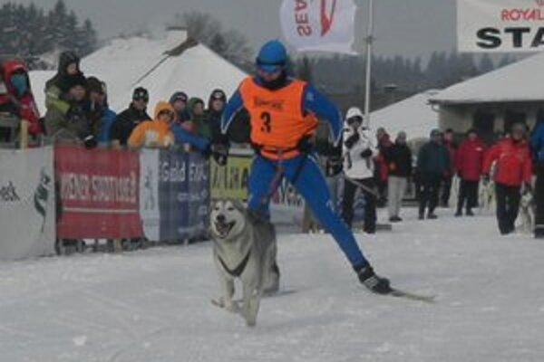 Igor Štefan so svojím psom Punťom.