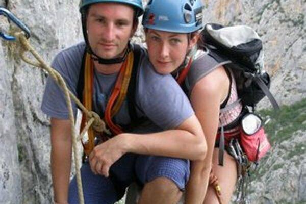 Partner v živote i na lane. Lezenie v Chorvátsku.