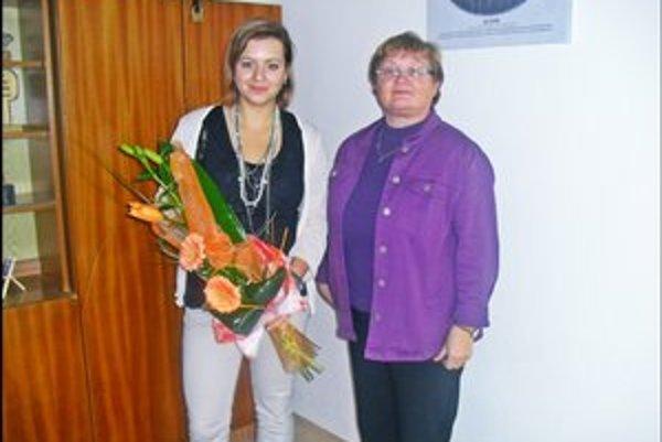 Adriana Totiková. S triednou učiteľkou Janou Kababíkovou.