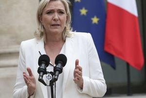 Šéfka krajne pravicového francúzskeho Národného frontu Marine Le Penová.