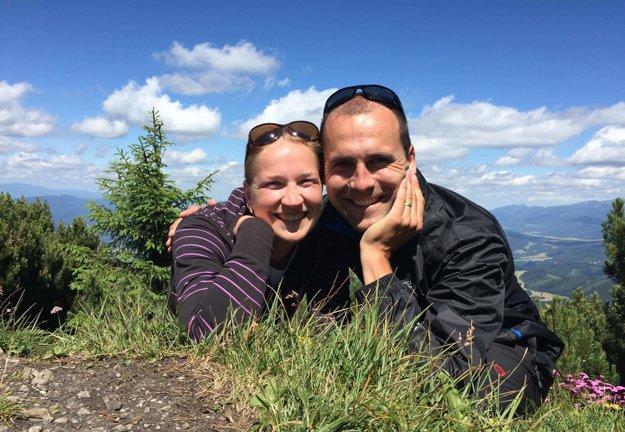 Michal Lipiak s manželkou Andreou na Choči.