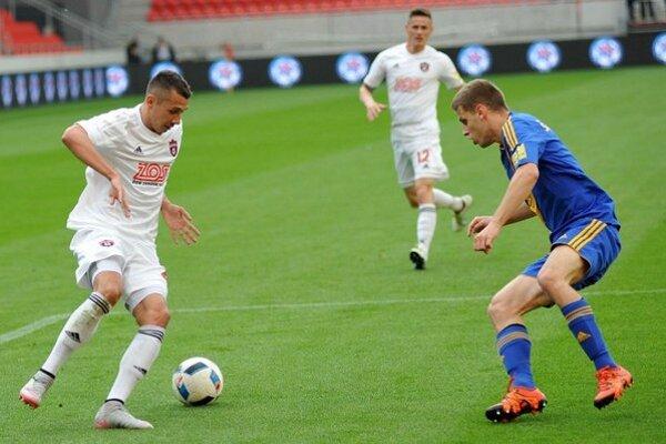 Ivan Schranz (vľavo) ešte v drese Spartaka Trnava.