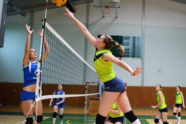 Volejbalový turnaj. V Michalovciach bojovalo osem družstiev.