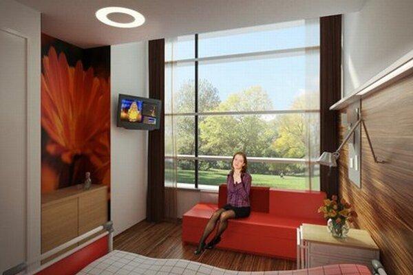 Takto by mali vyzerať izby v plánovanej nemocnici.