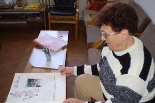 Predsedníčka klubu dôchodcov. Mária Peťková vedie klub už 15 rokov.