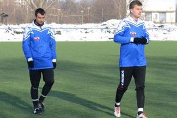 Dve nové tváre v mužstve. Jozef Kročko (vľavo) a Rastislav Albičuk.