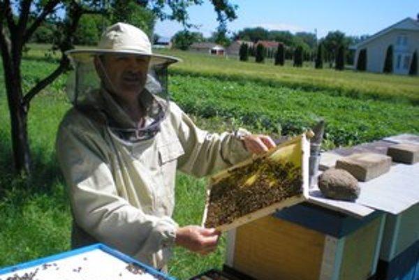 Michal Josai. S včelami je v kontakte už od detstva.