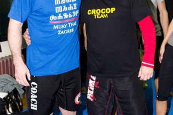 Tibor Šimonič v Chorvátsku. S Mirkom Crocopom Filipovičom (vľavo).