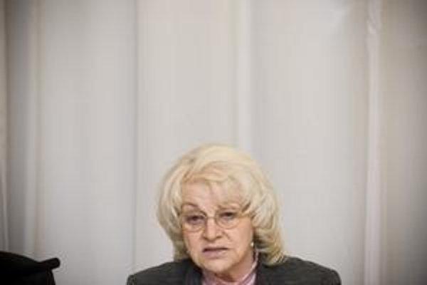 Ministerka práce Viera Tomanová.