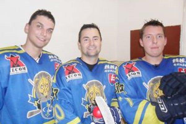 Humenská trojica: (zľava) Patrik Zgibor, Peter Štekláč a Erik Dzoba.