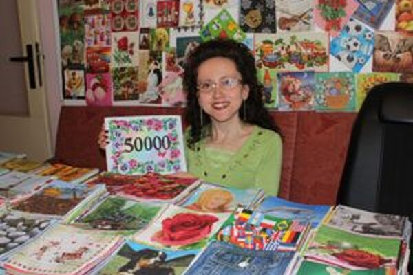 Zberateľka. Vo svoje zbierke má viac ako 50-tisíc servítok. Každá je jedinečná.