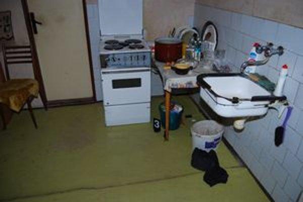 Miesto činu. V tejto kuchyni dobodala Andrea svojho manžela.