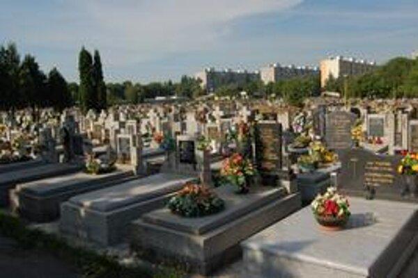 Michalovský cintorín. Je takmer zaplnený.