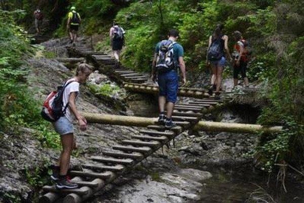 Turisti sa stratili v Slovenskom raji.