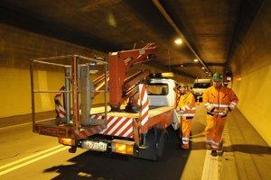 Práce v tuneli Branisko.
