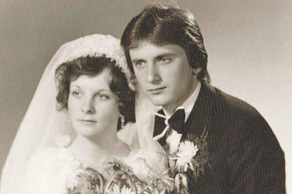 Vlasta a Stanislav. Svadba – ich najkrajší moment v živote.