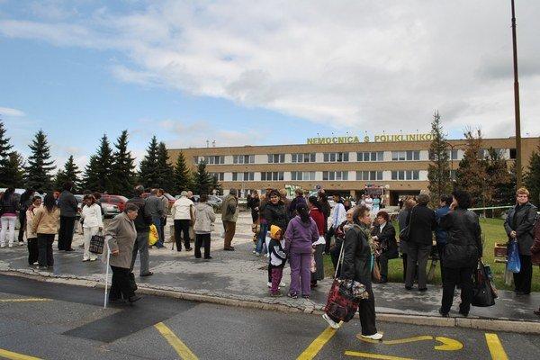 Nemocnica v Spišskej Novej Vsi. Spravuje ju spoločnosť Svet zdravia.