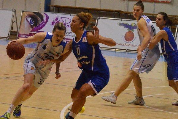 Výborný basketbal. V podaní Spišiačok a chorvátskych basketbalistiek videli diváci kvalitný euroligový basketbal.