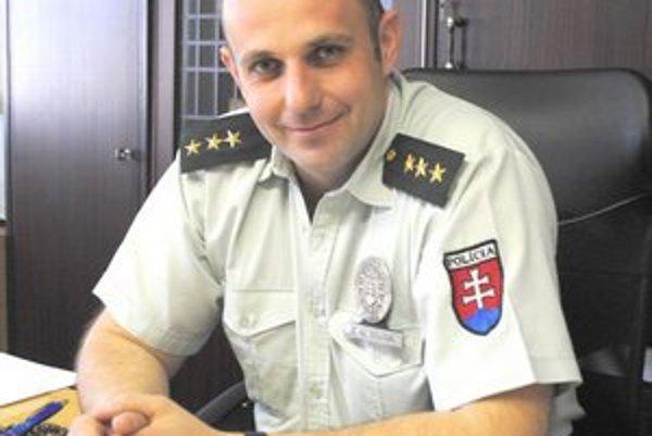 Maroš Leško. Je novým riaditeľom na Obvodnom oddelení PZ v Spišskej Novej Vsi.