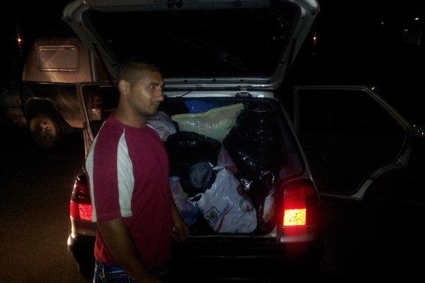 Plné auto. Zlodeji sa činili, vykradli dva kontajnery.