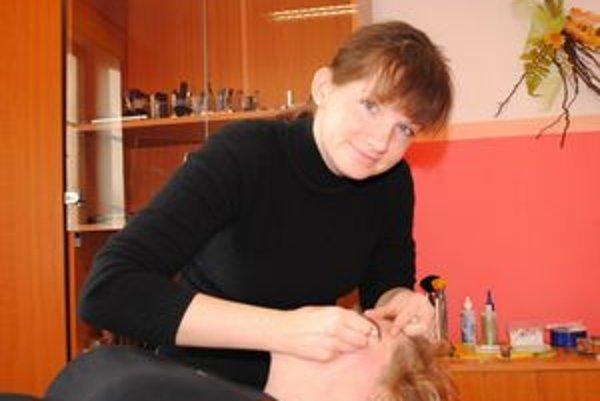 Martina Jasečková. Vždy milá k svojim zákazníčkam.
