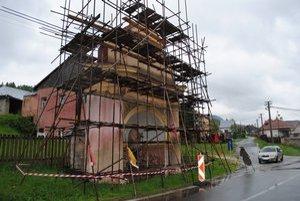 Smolnícka kaplnka. Práve ju renovujú, práce by mali ukončiť do konca júna.