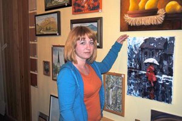 Nečas. Aj takú pochmúrnu tému stvárnila pani Jana veselými farbami.
