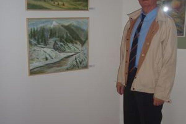 Milan Ogurčák. Prvý predseda KNV doteraz aktívne maľuje.