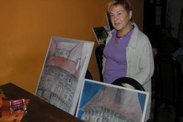 Česká umelkyňa. Levoča je pre ňu zdrojom umeleckého bohatstva.