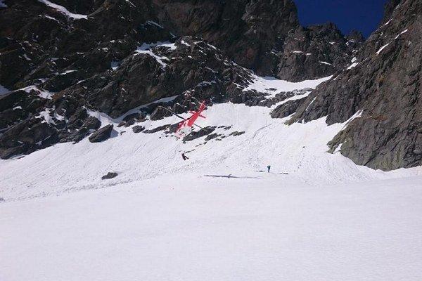 Zásah horskej služby na mieste tragédie.