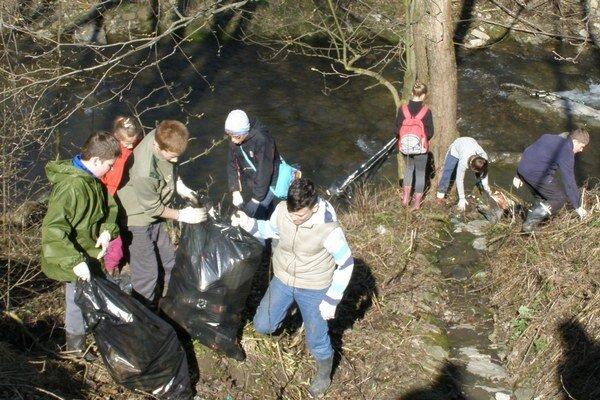 Momentka z minulého roku. V Pieninách vtedy vyzbierali 1,7 tony odpadu.