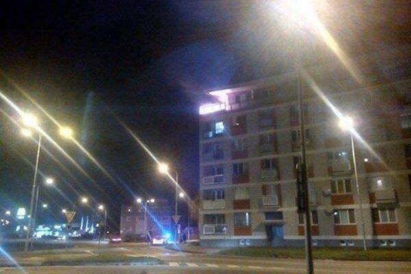 Oheň od lampióna na Štúrovej ulici